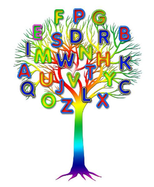 Buchstaben Baum