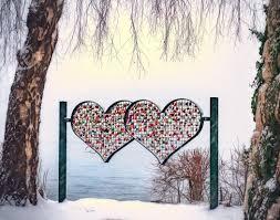 Zwei liebende Herzen.